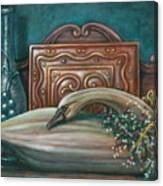 Still Life With Swan Canvas Print