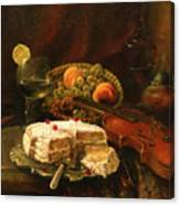 Still-life With The Violin Canvas Print