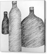 Still Life With Three Bottles Canvas Print