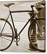 Still Life With Trek Bike In Sepia Canvas Print