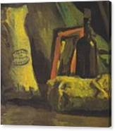 Still Life With Two Bags And Bottle Canvas Print