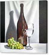 Still Life With White Wine Canvas Print