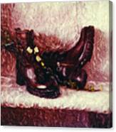Still Life With Winter Shoes - 1 Canvas Print