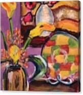 Still Life Within A Still Life Left Canvas Print
