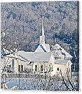 Still The Little White Church In Peoria Canvas Print
