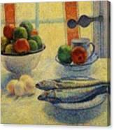 Stilleven Met Vis 1885 Canvas Print
