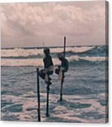Stilt Fishermen Of Sri Lanka Canvas Print
