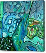 Stingrays Departing Canvas Print