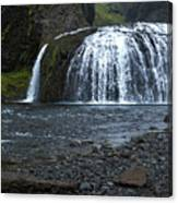 Stjornarfoss Waterfall - Iceland Canvas Print