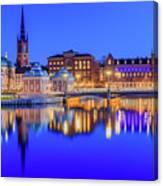 Stockholm Blue Hour Postcard Canvas Print