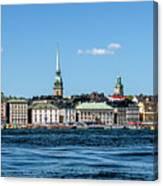 Stockholm From Lake Malaren Canvas Print