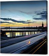 Stockholm Night - Slussen Canvas Print