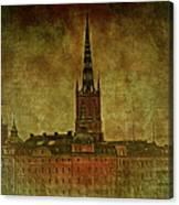 Stockholm Painting V Canvas Print
