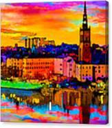 Stockholm Reflective Art Canvas Print