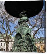 Stockholm Statue Canvas Print