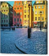 Stockholm Stortorget Square Canvas Print