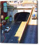 Stockton Street Tunnel In Heavy Shadow . Long Version Canvas Print
