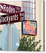 Stockyards Fort Worth 6815 Canvas Print