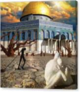 Stolen Light-dome Of The Rock Temple Mount Canvas Print