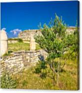 Stone Artefacts Of Asseria Ancient Town Canvas Print