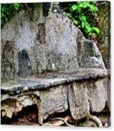 Stone Bench Two Canvas Print