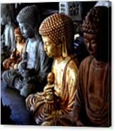 Stone Buddhas Canvas Print