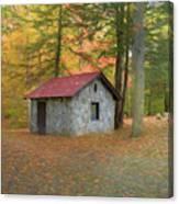 Stone Building In Autumn Canvas Print