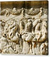 Stone Carving On Mausoleum Of The Julii Canvas Print