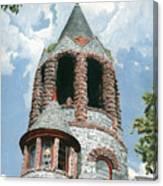 Stone Church Bell Tower Canvas Print