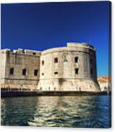Stone Fortress In Dubrvnik King's Landing Canvas Print
