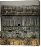 Stone Foundation Barn Canvas Print