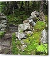 Stone Gate - Edmands Path - White Mountains New Hampshire  Canvas Print