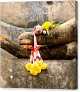 Stone Hand Of Buddha Canvas Print