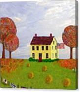Stone House In Autumn Canvas Print