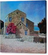 Stone House On The Beach Canvas Print