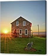 Stone House Sunrise Canvas Print