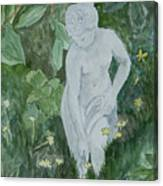 Stone Lady In The Butercups Canvas Print