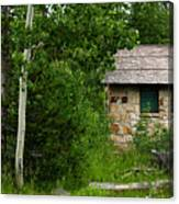 Stone Outhouse 2 Canvas Print