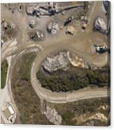 Stone Quarry Aerial Canvas Print