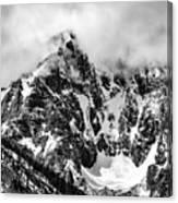 Stone Spire And Bowl Glacier Canvas Print
