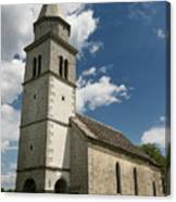 Stone Tile Roof Of The Church Of The Holy Cross In Tomaj Parish  Canvas Print