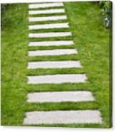 Stone Walkway Canvas Print