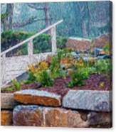 Stone Wall And Stairs Canvas Print