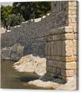 Stone Wall In Foca Canvas Print