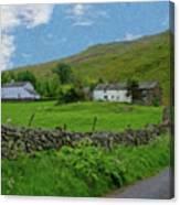 Stone Wall Lake District - P4a16012 Canvas Print