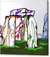 Stonehenge Chakras Canvas Print