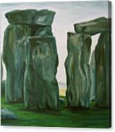 Stonehenge In Spring 2 Canvas Print