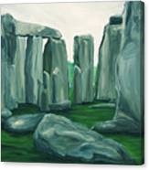 Stonehenge In Spring Canvas Print