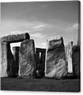 Stonehenge No 1 Bw Canvas Print