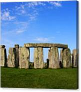 Stonehenge On A Clear Blue Day Canvas Print